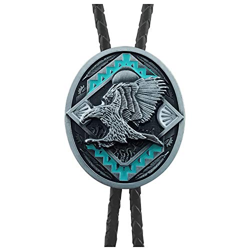 38204df80130 QUKE American Western Cowboy 3D Bald Eagle Sunset Bolo for sale Delivered  anywhere in USA More pictures. Amazon