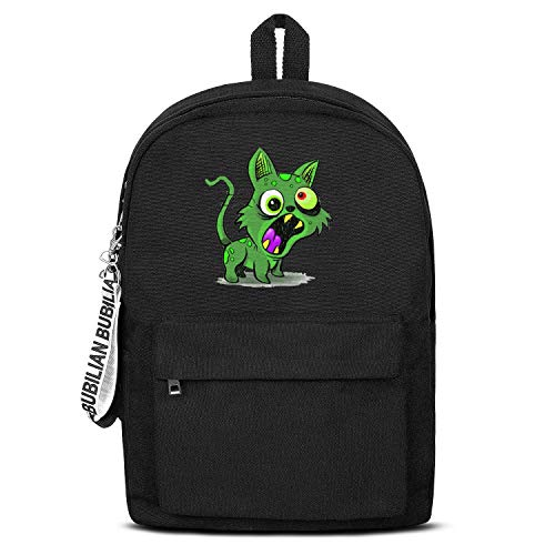 School Black Bookbags With Pencil Case Cute Zombie Cat Roar Waterproof Travel Laptop Canvas Backpack]()
