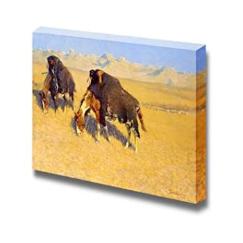 Indians Simulating Buffalo by Frederic Remington Giclee Repro Canvas