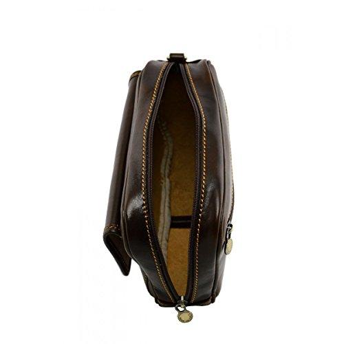 Clutch In Vera Pelle Per Uomo Colore Moro - Pelletteria Toscana Made In Italy - Borsa Uomo