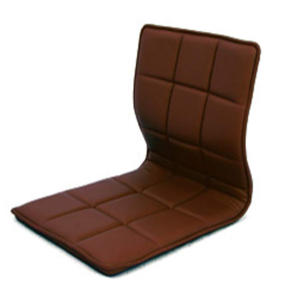 D&W Floor Chair, Adjustable Portable Cushioned Recliner with Back Support Tatami Video-Gaming Reading Legless Floor Chair -Brown 42x51x47cm(17x20x19inch)
