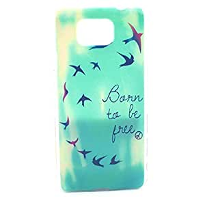Galaxy Alpha G850F Case, LUOLNH Fashion Style Colorful Painted Be Free Swallows Hard Case Back Cover Protector Skin For Samsung Galaxy Alpha G850 G850F