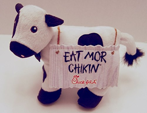 Chick-fil-a Promotional Standing Sandwich Board Eat Mor Chikin Cow 6.5 Inches Tall