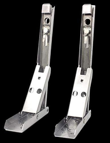 2 unidades para montaje en pared Juego de 2 soportes para estanter/ías de 8 pulgadas de acero inoxidable plegable 195 mm camping para caravana soporte de pared para estanter/ías