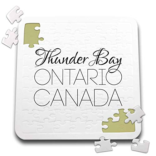 3dRose Alexis Design - Canadian Cities - Thunder Bay Ontario, Canada. Chic, Unique Patriotic Home Town Gift - 10x10 Inch Puzzle (pzl_304853_2)
