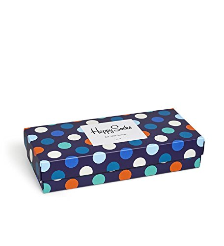 Happy Socks Mix Socks Gift Box Blue,Green,Orange,Red,White,Yellow 10-13 by Happy Socks (Image #1)