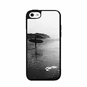 Black and White Surfer Plastic Phone Case Back Cover iPhone 5c