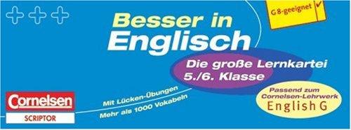 Besser in der Sekundarstufe I - Englisch / 5./6. Schuljahr - 550 Karteikarten (Bisherige Ausgabe): Passend zum Cornelsen-Lehrwerk