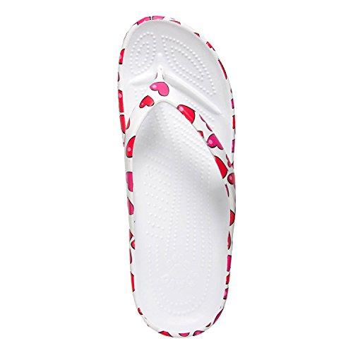 DAWGS Womens Ladies Flip Flop Hearts swEL2