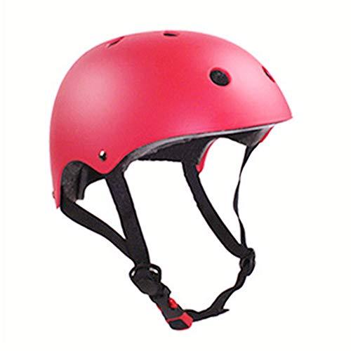 (CCTRO Skateboard Helmet, Adjustable Impact Resistance Ventilation Bike Skating Scooter Helmet for Cycling Skateboarding Scooter Roller Skate Inline Skating Rock Climbing (Medium-Red))