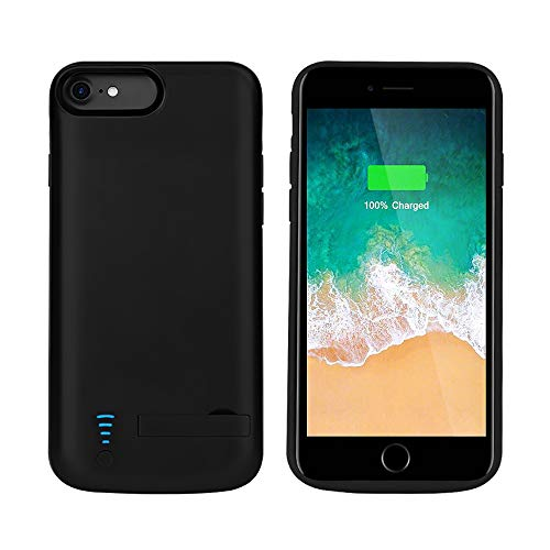 RUNSY Battery Case Compatible with iPhone 8 / 7 / 6S / 6, 5500mAh Rechargeable Extended Battery Charging Case, External Battery Charger Case, Adds 2x Extra Juice, Support Wired Headphones (4.7 inch) ()