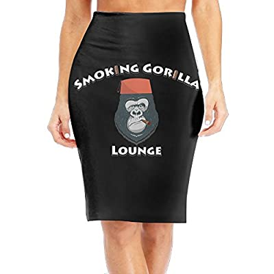 Nice LULULUON Women Gorilla Smoking corilla Lounge Comfortable Office Skirts Midi Pencil Skirt Slim Fit Business Skirt hot sale