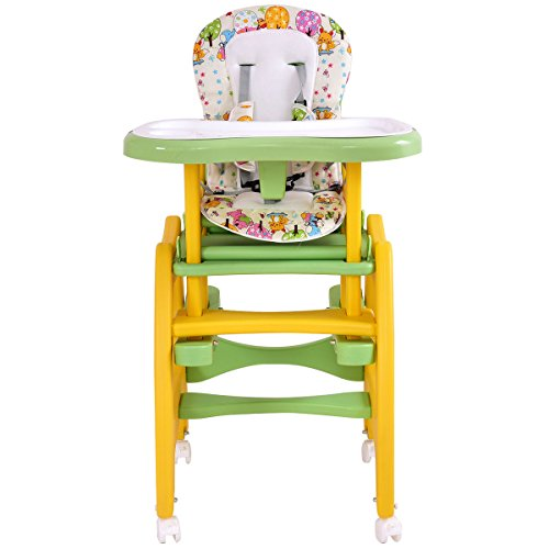 3 in 1 Baby High Chair Convertible Play Table Seat Booster Toddler Feeding Tray by Item Boom
