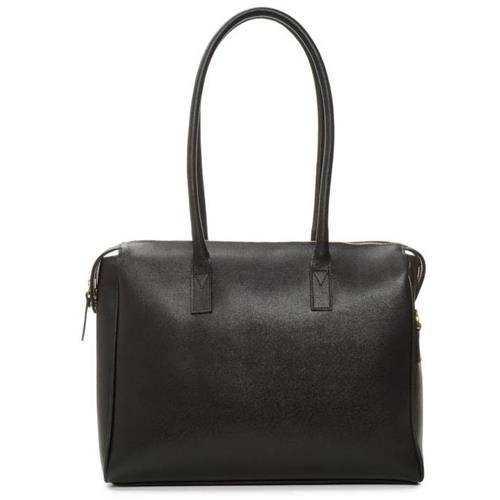 The Madison Camera and Laptop Bag (Black, Leather)   B01FV1L7JU