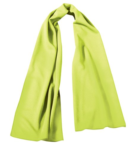OccuNomix International LLC TD400-HVY - Coolcore Tuff & Dry Wicking & Cooling Towel - Color: Yellow, 36 in Long, 8 in Wide