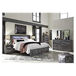 Bedroom Amazing Buys Baystorm Bedroom Set by Ashley Furniture – Includes Queen Bed, Dresser, Mirror and 2 Night Stands farmhouse bedroom sets