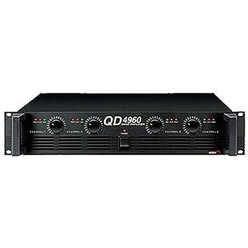 qd-4960 Amplificadores Amplificador de Potencia de 4 canales de audio y vídeo, qd