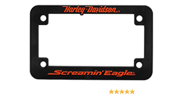 Harley-Davidson Screamin\' Eagle Logo Motorcycle Plate Frame, Black  HARLNV011100