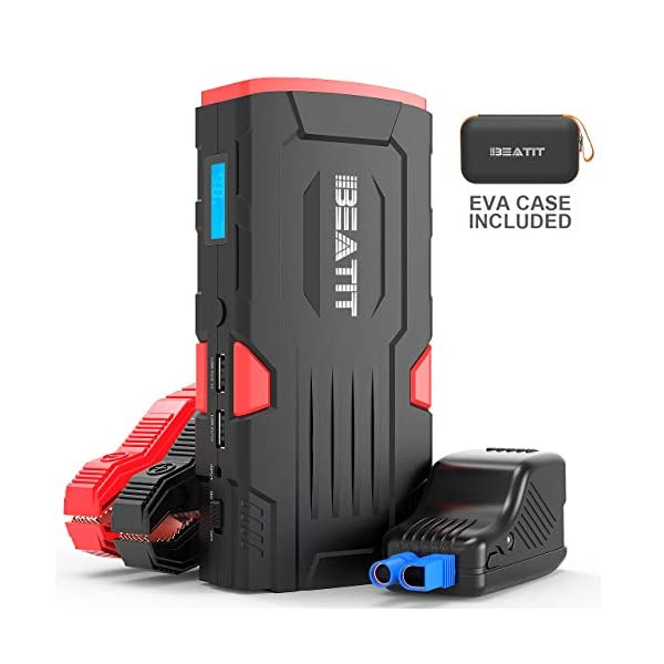BEATIT LJ-D11 Large QDSP 800Amp 18000mAh Peak 12V Car Jump Starter (Up to 7.5L Gas...