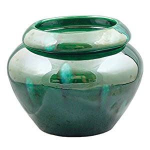 "Green 4"" Urn Shaped Self Watering Planter 26"