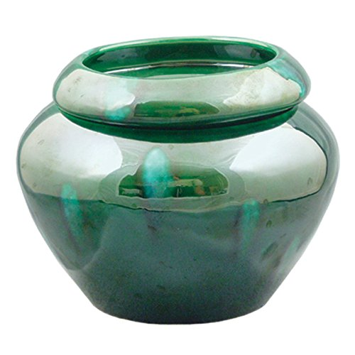 Green 4'' Urn Shaped Self Watering Planter by TVP Pottery