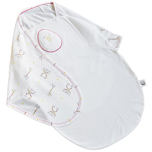Nested Bean Zen Swaddle Premier – 70% Rayon from Bamboo, 30% Pure Cotton (0-6 Months)(Starry Safari)