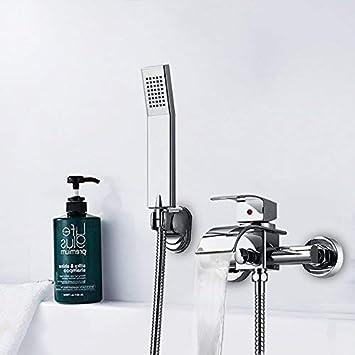 f30209d683970b Hausbath moderne laiton cascade Montage mural robinet pour baignoire  robinet avec douchette (avec douche à