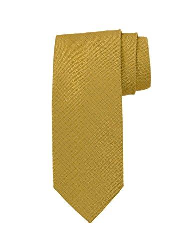 (Robert Jensen Finest Silk Handmade Men's Neck Tie - Mogador - Satin Double Dobby (Yellow Gold))