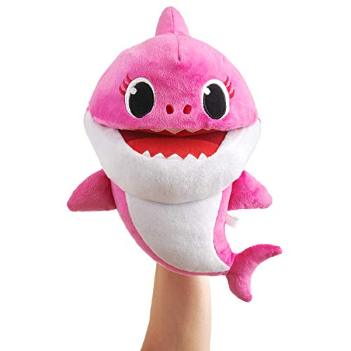WowWee Pinkfong Baby Shark Official Song Puppet with Tempo Control - Mommy Shark - Interactive Preschool Plush Toy (Interactive Shark)