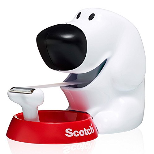 Scotch 19mm x 7.5m Dog Dispenser with 1 Roll of Scotch Magic Tape -