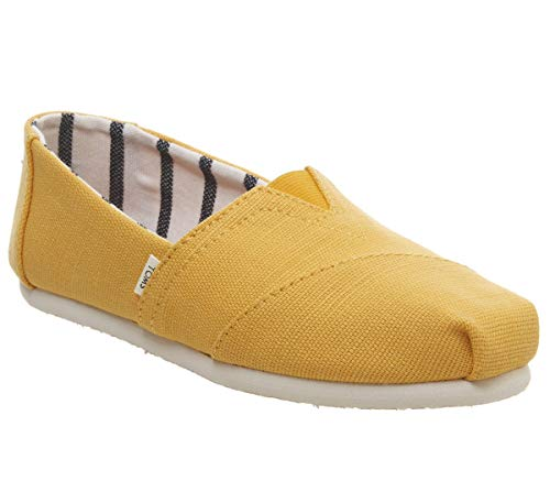 TOMS Women's Venice Collection Alpargata Gold Fusion Heritage Canvas 6 B US (Yellow Gold Shoe)