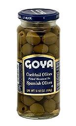 Goya Foods Cocktail Pitted Olives (2 Pack)