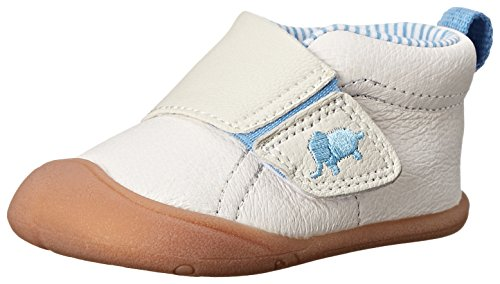 Andy Stage 1 Crawl Walking Shoe (Infant), Blue/Ivory, 2 M US Infant (Carters Toddler Boys Pull)