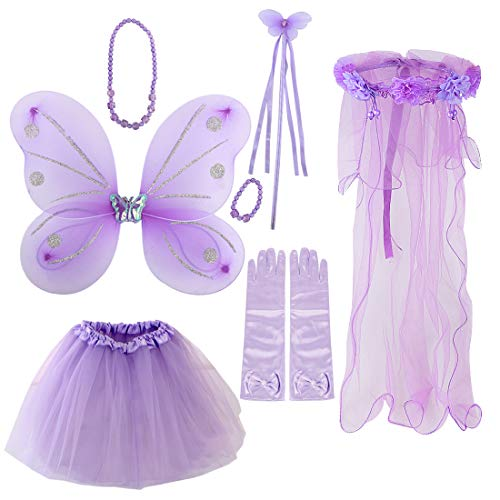 kilofly Princess Party Favor Butterfly Fairy Costume Dress Up Role Play Value -