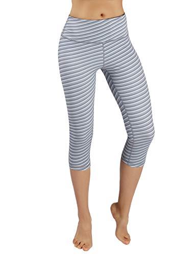 (ODODOS Power Flex Printed Yoga Capris Tummy Control Workout Non See-Through Pants with)
