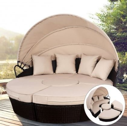 Amazon.com : K&A Company Outdoor Patio Sofa Retractable ...