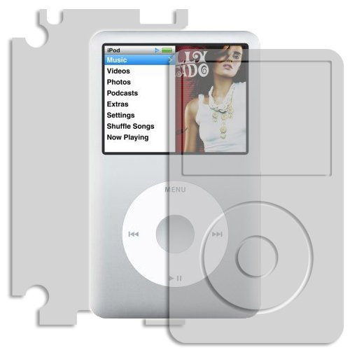 iPod Classic Screen Protector + Full Body, Skinomi TechSkin (160GB) Full Coverage Skin + Screen Protector for iPod Classic Front & Back Clear HD Film