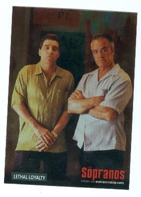 Paulie Walnuts and Silvio Dante Sopranos trading card 2005 Inkworks #23