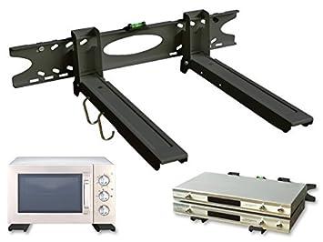 H75B Drall Instruments Soporte de Pared Universal Soporte de microondas Altavoz Cab Bluray Media Player Modelo Negro