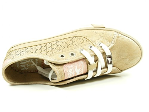 Mustang 1146-304 Womens Loafers Lace Up, Schuhgröße_1:42 EU;Farbe:Beige