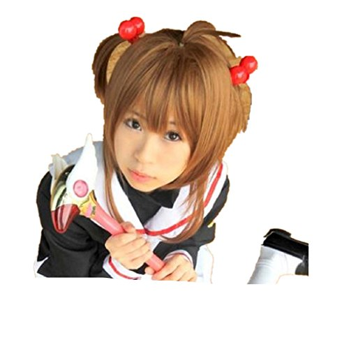 Cardcaptor Sakura KINOMOTO SAKURA CHAN cosplay costume wig ()