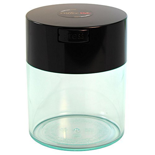 Coffeevac 1/2 lb - The Ultimate Vacuum Sealed Coffee Container, Black Cap & Clear (Flavor 1/2 Pound)
