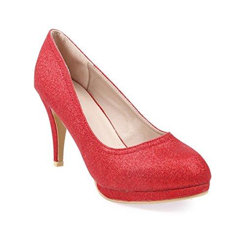 La Modeuse-Sandalias talla grande con lentejuelas Rojo