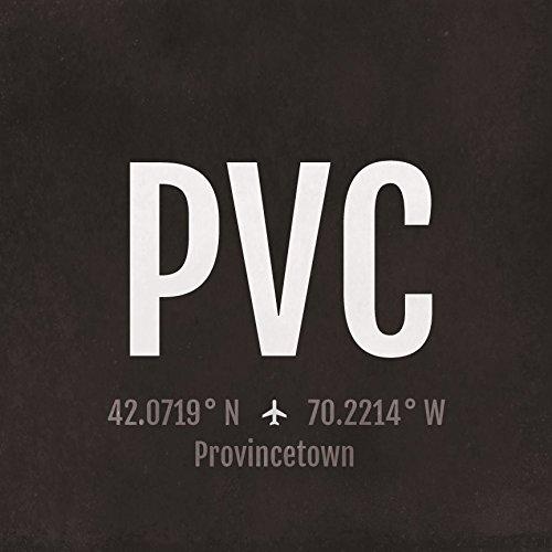 Pvc Ports (Provincetown Ptown Airport Code Print - PVC Aviation Art - Massachusetts Airplane Nursery Poster,Wall Art,Decor,Travel Gifts, Aviation Gifts)