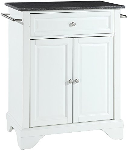 Crosley Furniture LaFayette Cuisine Kitchen Island with Solid Black Granite Top - White
