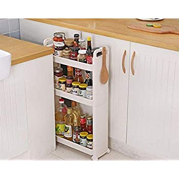 Amazon Com Shozafia Narrow Slim Rolling Storage Cart And