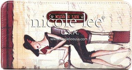 nicole-lee-nicole-lee-vinatge-print-wallet-card-case-coffee-one-size
