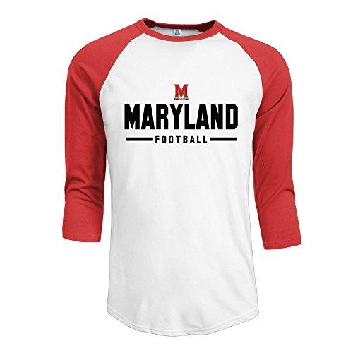 Maryland Terrapins Sport Wordmark 2016 Men's 3/4 Sleeve Athletic Baseball Jersey
