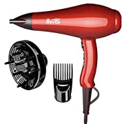 1875W Professional Hair Dryer, Jinri 3 Minute Fast Drying Infrared Blow Dryer with Diffuser & Comb & Concentrator…