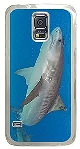 Tiger Shark DIY Hard Shell Transparent Samsung Galaxy S5 I9600 Case Best Designed Protection By Custom Service